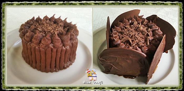 Bolo de chocolate para dois 1