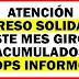 DPS informó: Ingreso Solidario Este Mes Giros Acumulados