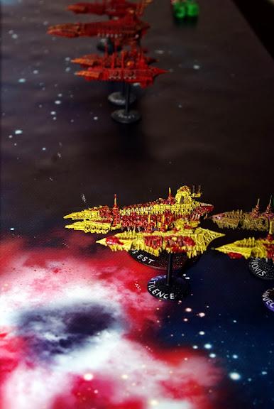 [Navy/SM vs Chaos] Deux flottes du chaos de 1000 points contre deux flottes impériales de 1000 points... _IGP8295