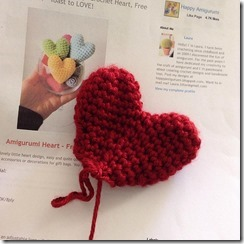 crochet heart (free pattern link, easy)