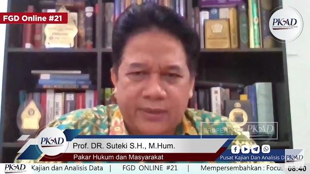 Prof. Suteki: Penegakan Hukum Kasus Gus Nur Unfair Trial