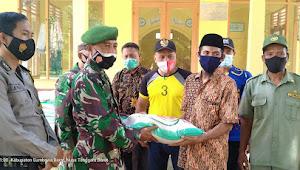 Momentum HUT TNI Ke 76 Kodim 1628 Sumbawa Barat Rehab Rumah Purnawirawan dan Salurkan Beras Bantuan Presiden RI