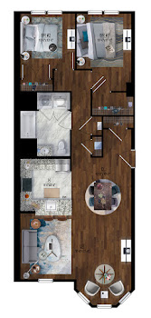 Go to Park St - 2 Bed, 1 Bath Floorplan page.