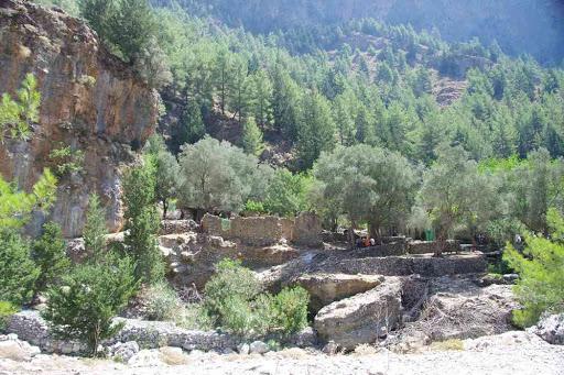 Arrivée au village de Samaria (Φαράγγι Σαμαριάς).