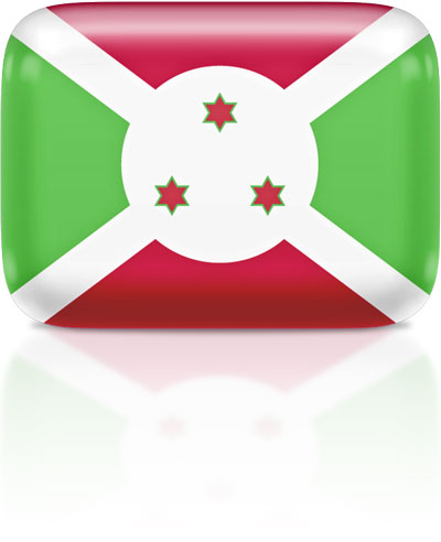 Burundian flag clipart rectangular