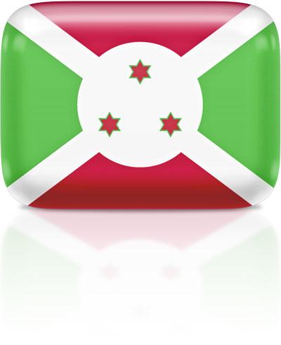 Burundian flag clipart rectangular