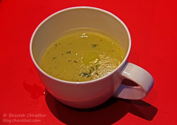 Potato and Leek Soup at Frisco, Koregaon Park, Pune