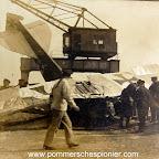 Damaged Hansa-Brandenburg KDW in Zeebrugge Seaplane-Station
