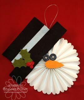 Lindos y economicos adornos navide os con rosetones de papel - Adornos de navidad con papel ...