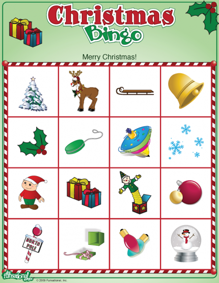 Christmas Bingo Game - Make your own BIG ONE!