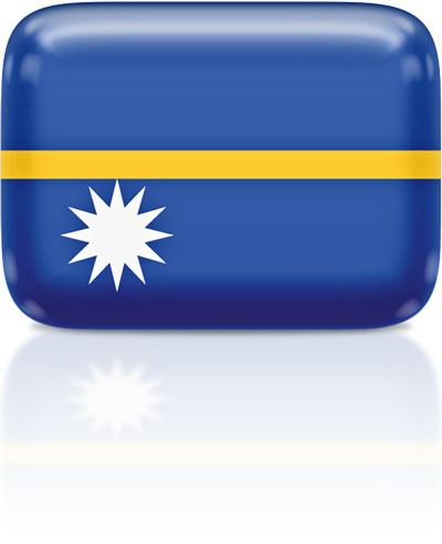 Nauruan flag clipart rectangular