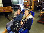 Corey Coleman (right), Oak Grove Student Highlight December 2014, pictured with fellow student Mayra Gamez on a recent field trip to the Exploratorium