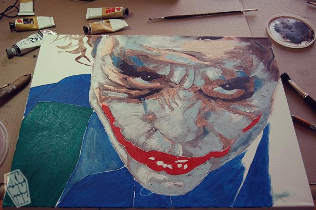 joker painting, joker oil, batman art, joker art, joker fanart, batman paint, joker canvas, joker poster, batman art, dark knight art