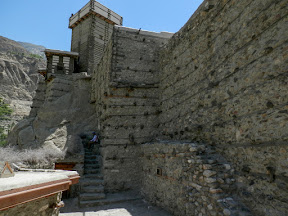 An ancient Altit fort in the Hunza valley