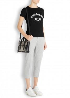 black eye print cotton t-shirt
