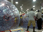 Deflating the hamster balls. Sad.