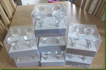 HOme Bargains Crystal Drawer Knobs
