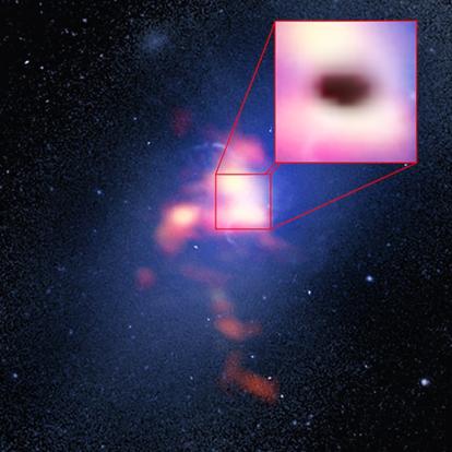 distribuição do gás na galáxia do aglomerado Abell 2597