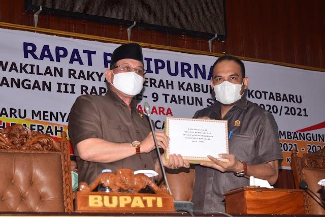 Rapat Paripurna, DPRD Kotabaru Bahas Rancangan RPJMD