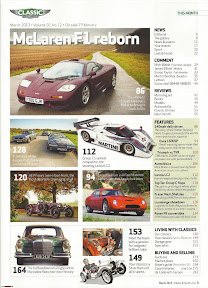Classic and Sports Car magazine - Rowan Atkinson Mclaren F1 Special - Contents