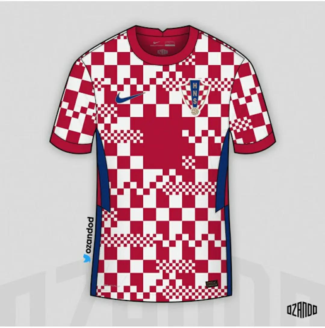 gaambar render jersey bocoran kroasia home euro 2020