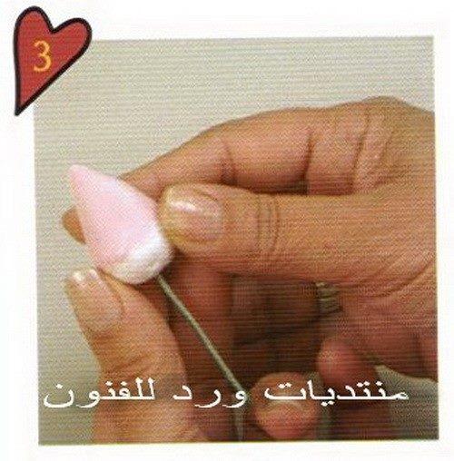 طريقة عمل وردة جميلة من عجينة السراميك