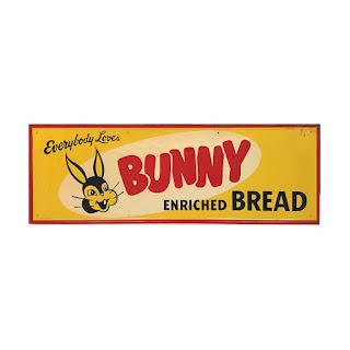 Bunny Bread 1950s Steel Advertising Sign