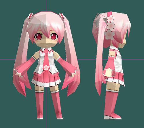 Sakura Miku Papercraft