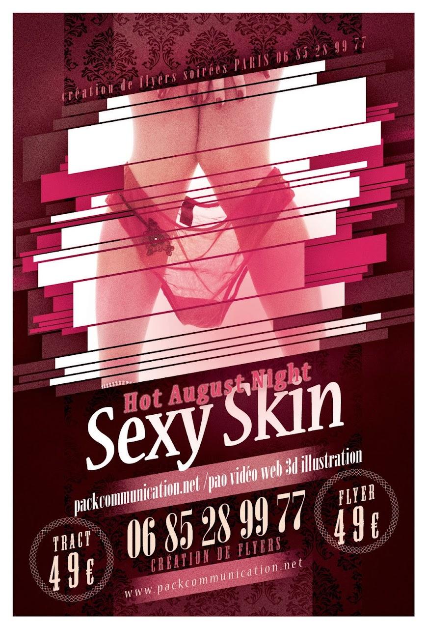 création flyers soirées thème Hot August Night Sexy Skin