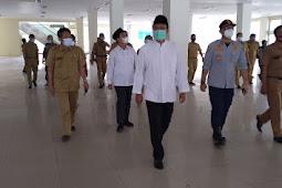 Gus Ipul & Mas Adi Tinjau Langsung Bangunan Mall Poncol Kota Pasuruan