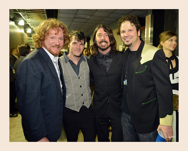 Chris Kline, Dave Grohl and Alex Weeden, 55th Annual GRAMMY Awards 2013