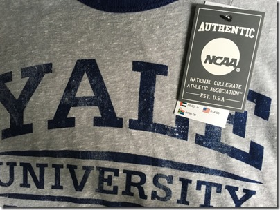 Cotton On grey tee / Yale Track and Field