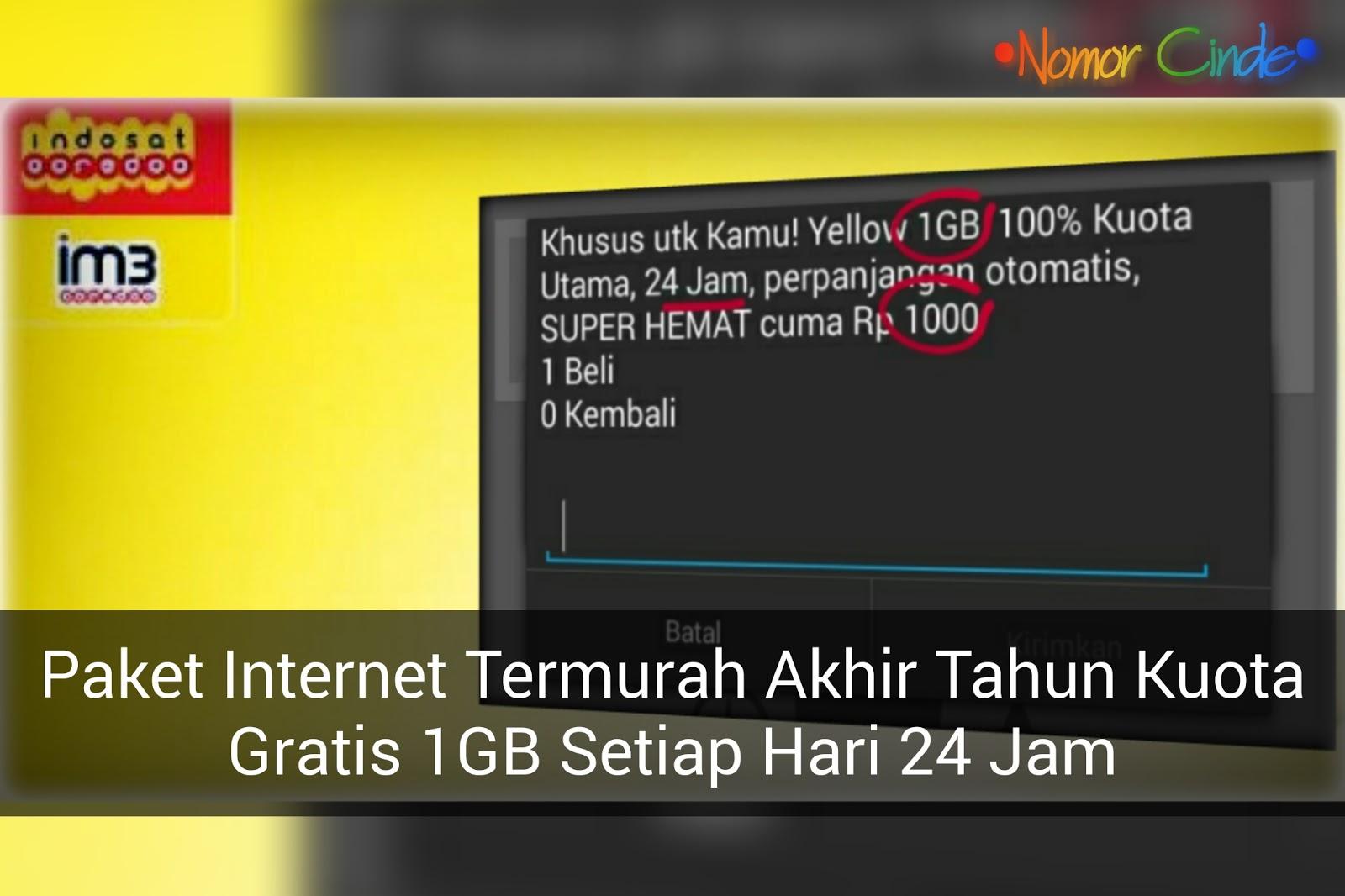 Bangkit Lagi Ini Cara Terbaru Mengaktifkan Paket Yellow Im3 1gb Cuma 1000 Indosat Ooredoo Nomor Cinde