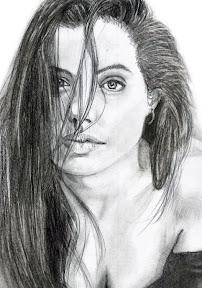 Angelina Jolie kézi rajz