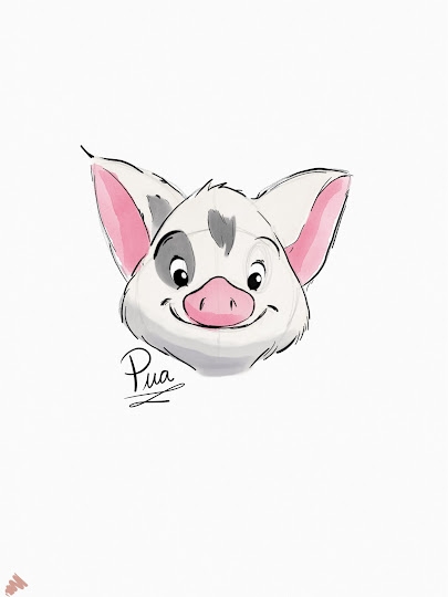 Pua (Moana) made with Sketches