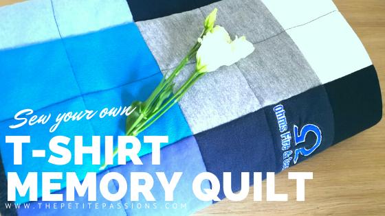 Sew a t-shirt memory quilt