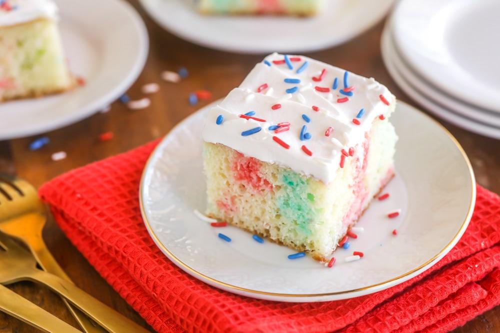Patriotic Poke Cake by Lil' Luna