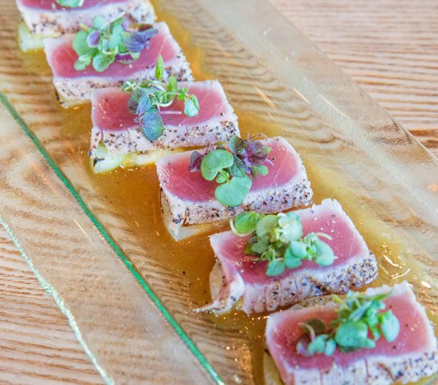 photo of Tuna Tataki with Valdivia Farm Green Tomato
