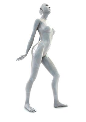 femme 3D pose artistique matiere nacre 3-04b