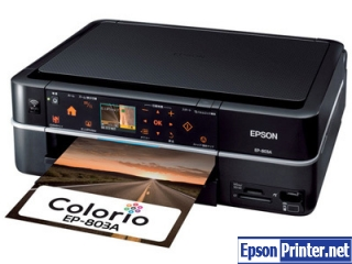 How to reset Epson EP-803A printer