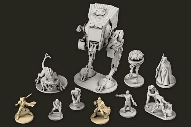 miniaturas de la caja Imperial Assault y sus expansiones