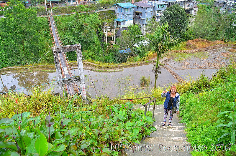 Its me ready to take the 297 steps up towards the back of Banaue market