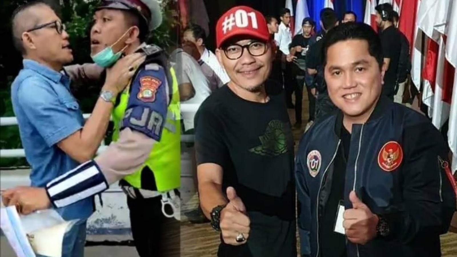 Pengendara Yang Cekik Polantas Ternyata Sekjen Rakyat Militan Jokowi