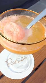 Renata cocktail of Trevi Fountain with aperol ice cream, volstead vodka, luxardo maraschino and chinotto soda