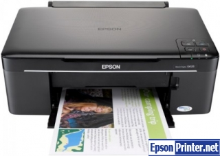 Reset Epson SX125 printing device by application