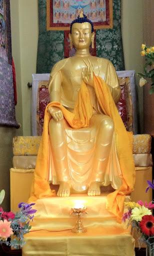 Maitreya statue at Hayagriva Buddhist Centre, Kensington, Western Australia, June 2012.