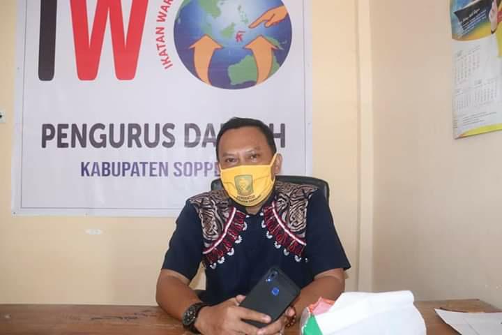 Ayo ke TPS Pakai Maskerta, Imbau Ketua IWO Soppeng