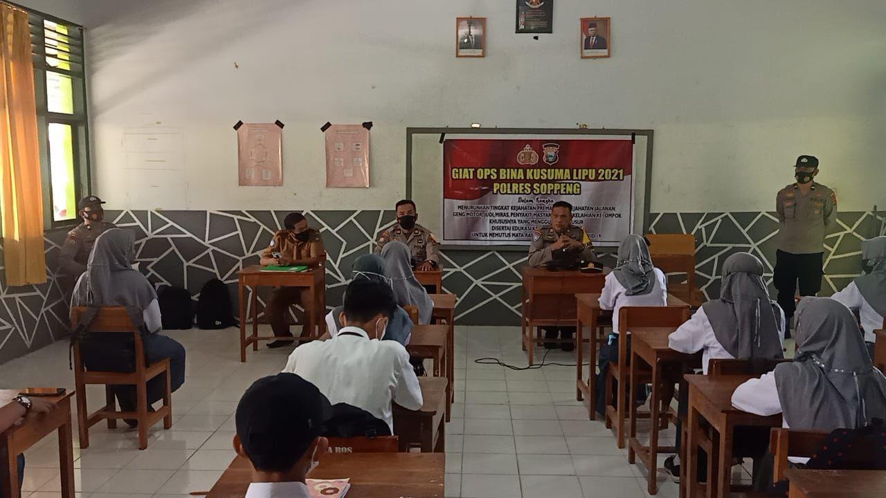 Sat Binmas Polres Soppeng Giat Operasi Bina Kusuma Lipu
