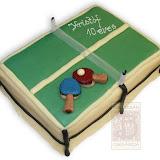 20. kép: Formatorták (fiúknak) - Ping-pong asztal torta