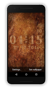Metal Clock Live Wallpaper - náhled